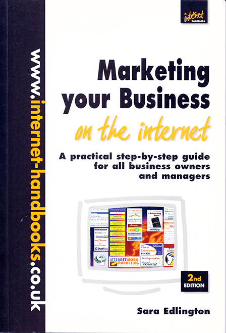 """Cover of """"Marketing your business on the internet"""" book by Sara Edlington"""