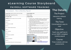 An eLearning storyboard for software payroll training